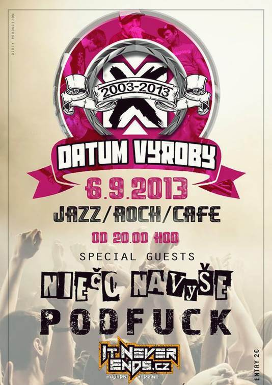 Datum Vyroby // 6. september 2013 // Jazz/Rock/Cafe