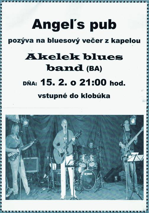 Akelek blues band // 15. februar 2014 // Angel`s Pub