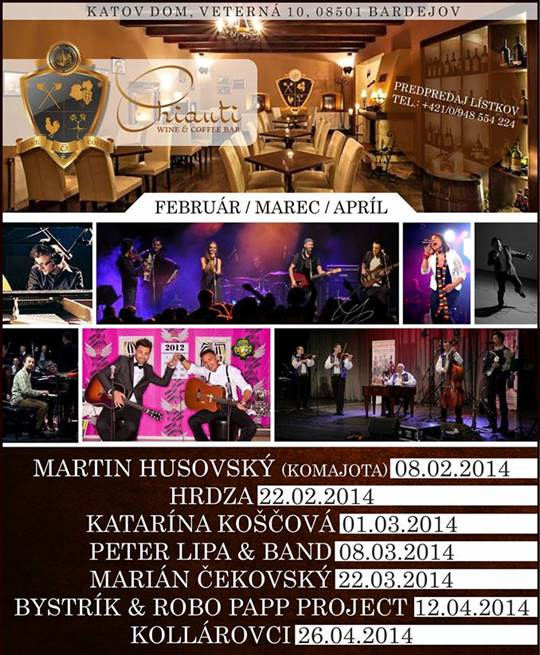 Peter Lipa & band // 8. marec 2014 // Chianti wine & coffee bar